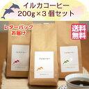 【東京 イルカコーヒー】【選べる】 常温 産地直送 フレーバーコーヒー 200g×3袋 キャラメル クレームブリュレ ヘー…