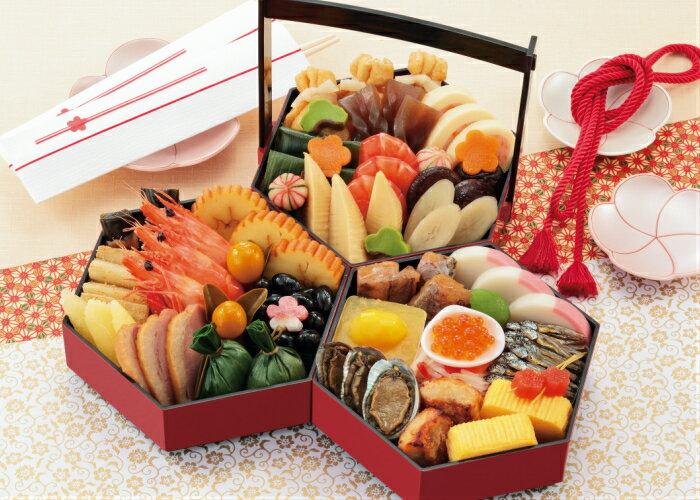 京菜味のむら「八坂(やさか)」冷凍三段重 約2〜3人前 32品目 送料無料 早割