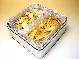 職人手焼きおかき どれから食べる?サラタン マヨネーズ&ちきり好み3分の1缶入り(お詰め合わせ)