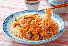ケンミン)エビ玉ビーフン 180g(冷凍食品 一品 惣菜 中華調理 中華 エスニック)