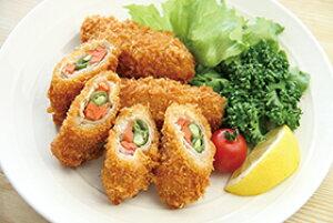 【新商品】ヤマガタ)豚肉野菜巻きフライ 1kg(40g×25個)(冷凍食品 一品 彩り 揚物 人参 さやいんげん)