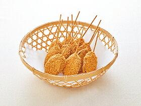 【新商品】テーブルマーク)串揚職人 なす肉みそ串フライ 30本(900g)(冷凍食品 居酒屋 串揚 茄子 ナス 串揚)