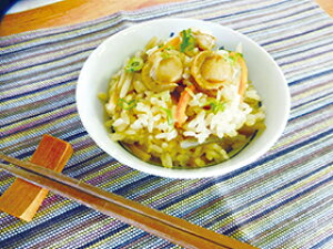 【新商品】三水)ほたての炊き込みご飯の素 2合用(冷凍食品 冷凍 簡単調理 たきこみごはん)