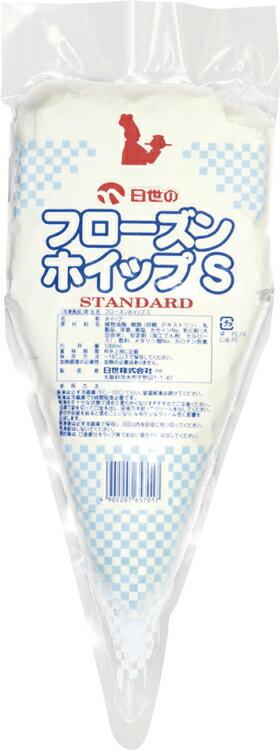 日世)フローズンホイップS 1000ml(冷凍食品 冷凍 ホイップクリーム トッピング 製菓 製パン 材料 生クリーム ほいっぷ)