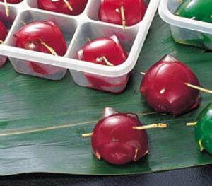 ヤマ食)鏡梅(赤)約20g×15個入(冷凍食品 赤梅甘露煮 業務用食材 梅甘露 割烹)
