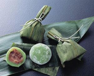 ヤマ食)笹茶巾餅 約18g×50個入(冷凍食品 一品 惣菜 お通し 割烹 料亭 業務用 餅 割烹 冷凍)
