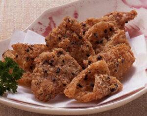 ニチレイ)鶏皮せんべい 500g(100〜110枚入)(冷凍食品 揚物 おつまみ 業務用食材 鶏 唐揚げ 揚げ物 鶏皮 フライ 和食 ビール)