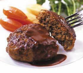 ニチレイ)グリエハンバーグ 120g×10個入(冷凍食品 ジューシー マルチスチーム製法 業務用食材 ハンバーグ 洋食 肉料理)
