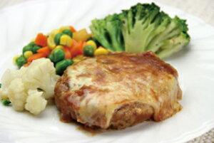 チーズトマトハンバーグ 130g (正味115g、タレ15g) 13732(鶏肉 豚肉 牛肉 ブレンド ジューシー 柔らか トマトソース 業務用 食材 ハンマーグ チーズ トマト 洋食肉類 やわらか 柔らかい)