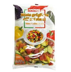 カゴメ)菜園風グリル野菜のミックス600g(冷凍食品ズッキーニなす赤パプリカ黄パプリカ業務用冷凍カット野菜ミックス)