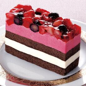 フレック)いちごとブルーベリーのケーキ 約77gx6個入(冷凍食品 ココアスポンジ カシスムース バニラ風味ムース 味の素 デザート)