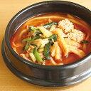 【新商品】キンレイ)具付麺チゲうどんセット 354g(冷凍食品 具材付 電子レンジ調理可 一人鍋 ウドン 麺)