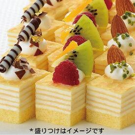 フレック)ケーキミルクレープ 525g(48個入)(冷凍食品 カット済 バイキング パーティ ケーキ 洋菓子 デザート フルーツ)