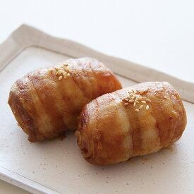 ポストごはんの里)肉巻きおにぎり 320g(4個)(おむすび オニギリ バーベキュー 屋台 学園祭 文化祭 弁当 冷凍食品 業務用食材)