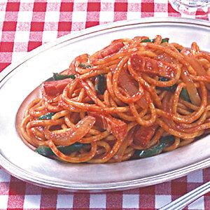 シマダヤ)昔懐かしのナポリタン太麺 1kg(パスタ 具付 トマトソース)