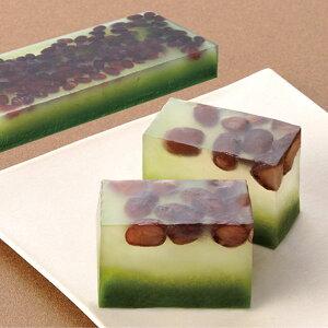 味の素)水菓子小豆入抹茶羹フリーカット380g(冷凍食品 ようかん 甘味 和菓子)