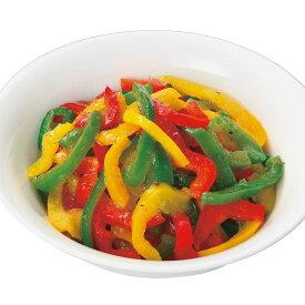 カンタン菜園 パプリカスライス3色ミックス500g 12619(簡単 時短 カット野菜 ぱぷりか ピーマン)