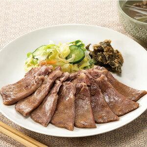 カメイ)北米産牛タン塩中切り(8) 500g(冷凍食品 味付 スライス済 厚切 牛肉 たん)
