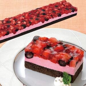 味の素冷凍)フリーカットケーキ ダブルベリー 495g(冷凍食品 ムース デザート ケーキ スイーツ ラズベリー ブルーベリー)
