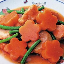 大冷)花形人参 500g(約80個入)(冷凍食品 簡単 時短 業務用食材 野菜 やさい ベジタブル 食材)
