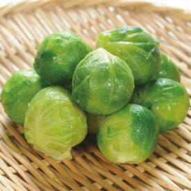 【新商品】Wismettacフーズ)芽キャベツ 500g(約40〜50個前後)(冷凍食品 煮込み 付け合せ きゃべつ 野菜)