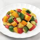 カゴメ)農園風イタリアンミックス(ごろごろカット) 1kg(冷凍食品 ズッキーニ 黄ズッキーニ 赤パプリカ ミックス野菜 …