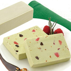 味冷)シチリア風アイスピスタチオケーキ 390g(冷凍食品 フリーカット バイキング パーティ ケーキ 洋菓子 デザート)