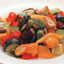 菜園風グリル野菜のミックス 600g 108205(ズッキーニ なす 赤パプリカ 黄パプリカ 業務用 冷凍 カット野菜 ミックス セール 割引 10%OFF)