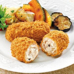 4種きのこのクリームコロッケ(ベーコン入り) 70g×10個入 18763 販売期間 9月-2月(キノコ フライ 具材感 揚物 惣菜)