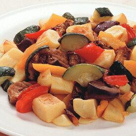 地中海野菜グリルのミックス 600g 8272(じゃがいも ズッキーニ なす 赤パプリカ 黄パプリカ 業務用 冷凍 カット野菜 ミックス)