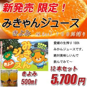 みきゃんジュース(きよみ)500ml 12本セット