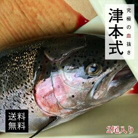 津本式 仕立て師:阿部浩也 森のサーモン2尾入り 1尾約1.8-2.3kg 養殖 サーモン 鮭送料無料 兵庫県からの発送 津本式 血抜き 雑誌 鮮魚