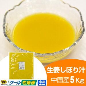 【冷凍】生姜汁 5kg 中国産[]【一次加工品】