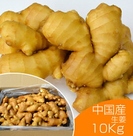 【食用】中国産 黄金生姜 10kg(近江生姜 黄色)[しょうが 酢しょうが 効能 生姜 殺菌効果 温活 血行促進 免活]