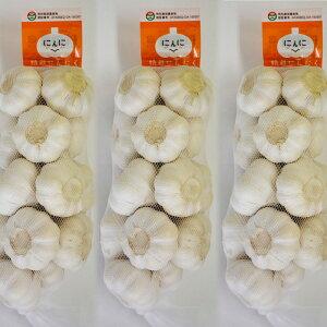 特栽にんにく 1kg×3ネット 食用におすすめ 中国産 上海嘉定種(ホワイト)[にんにく ニンニク ハナタカ優越館 アリシン ニンニク料理 殺菌効果 免疫力アップ 免活] 富里出荷