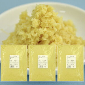 冷凍 おろし生姜 1kg×3 中国産[おろししょうが おろし生姜] 一次加工品