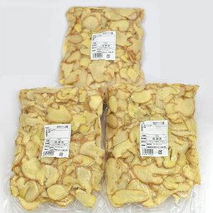 冷凍 皮付きスライス生姜 1kg×3パック 高知県産[スライス生姜 皮付き 生姜専門店] 一次加工品