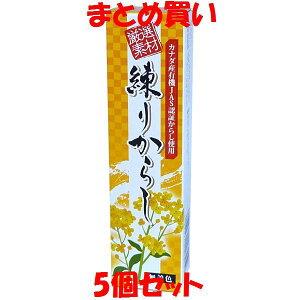 東京フード 厳選素材 練りからし チューブ入り 40g×5個セット まとめ買い