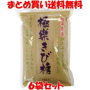 砂糖 極楽きび糖 種子島産 波動法製造(株) 1kg×6袋セットまとめ買い送料無料