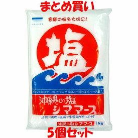 青い海 シママース 沖縄の塩 1kg×5個セット まとめ買い