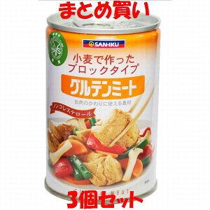 三育 グルテンミート(大) 缶詰 430g×3個セット まとめ買い