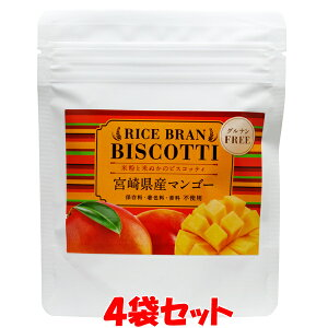 米粉のお菓子 ライスブランビスコッティ<マンゴー> 40g×4袋セットゆうパケット送料無料 ※代引・包装不可