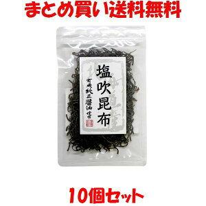 塩吹昆布 北海道産昆布 マルシマ 35g×10袋セットまとめ買い送料無料