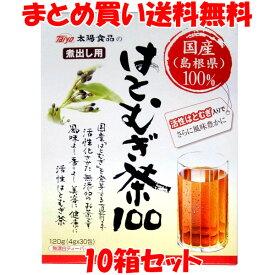太陽食品 煮出し用 国産活性はとむぎ茶100 無漂白ティーバッグ(4g×30袋)×10箱セットまとめ買い送料無料