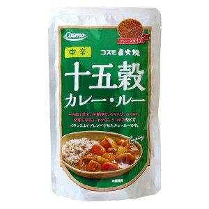 コスモ食品 直火焼き 十五穀カレールー <中辛> フレークタイプ 110g(4〜5皿分)