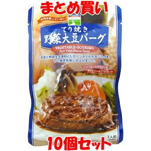 三育 てり焼き 野菜大豆バーグ 100g×10個セット まとめ買い