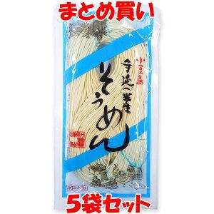 【夏季限定】創麺屋 小豆島 手延半生そうめん 夏季限定 180g(約2人前)×5袋セット まとめ買い