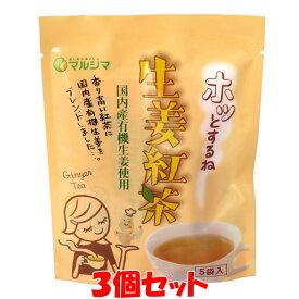 生姜湯 マルシマ ホッとするね 生姜紅茶 有機栽培生姜使用 25g(5g×5包)×3個セットゆうパケット送料無料 ※代引・包装不可