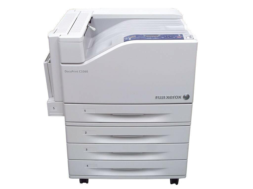 DocuPrint C3360 FUJIXEROX 3トレイキャビネット(増設カセット)キャスター付き(QL300014) A3カラーレーザープリンタ【中古】