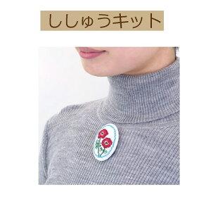 【手作りキット くるみボタン風ブローチ】9063 イチゴとアネモネ【3cmゆうパケット可】